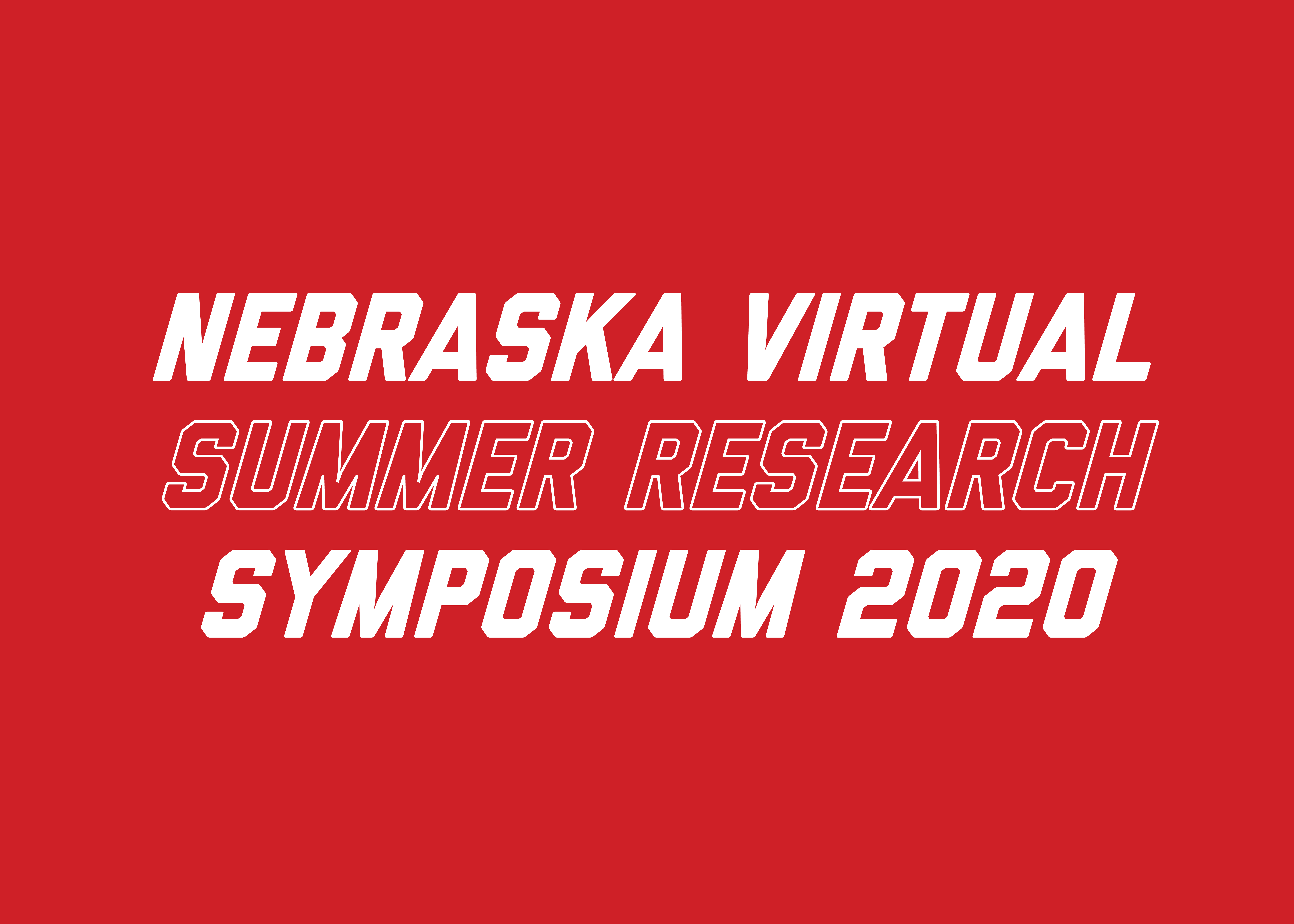 Nebraska Virtual Summer Research Symposium 2020 Image