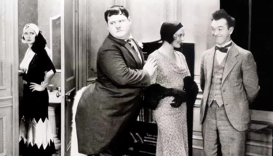 Frame by Frame logo image; links to Frame By Frame: Laurel And Hardy video