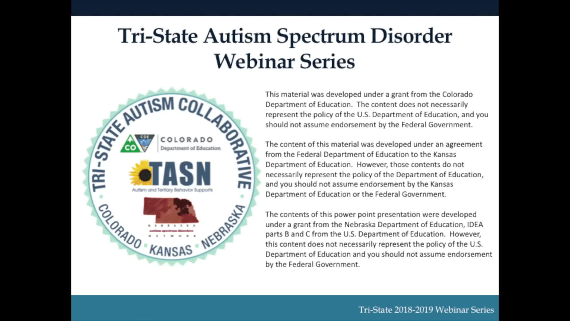 Introduction to Autism Spectrum Disorders