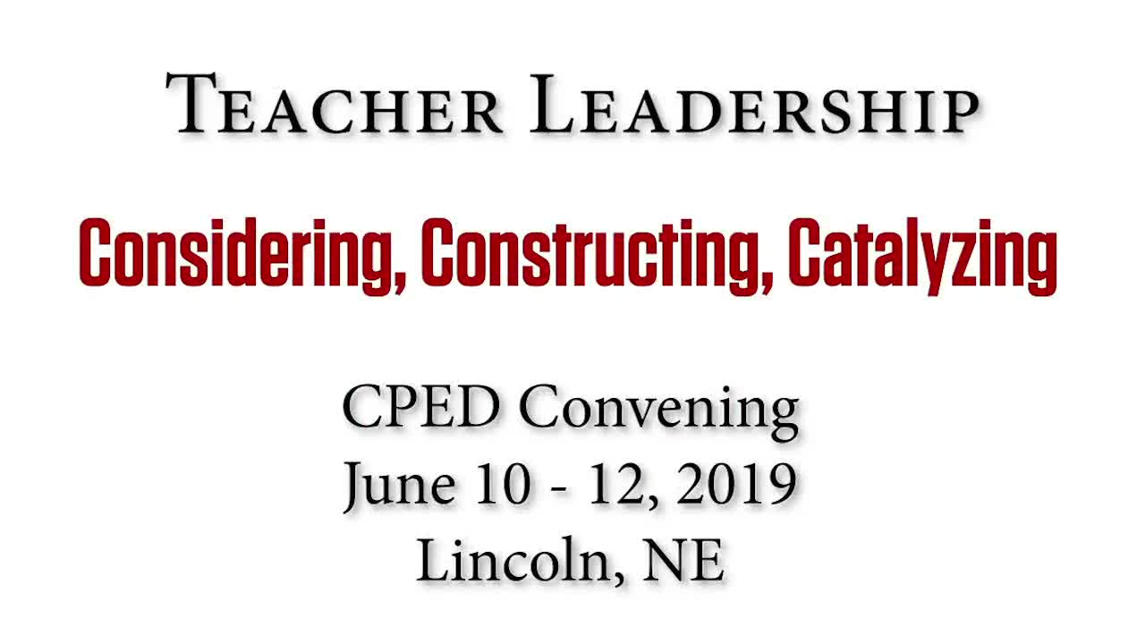 CPED Convening: June 10 - 12, 2019