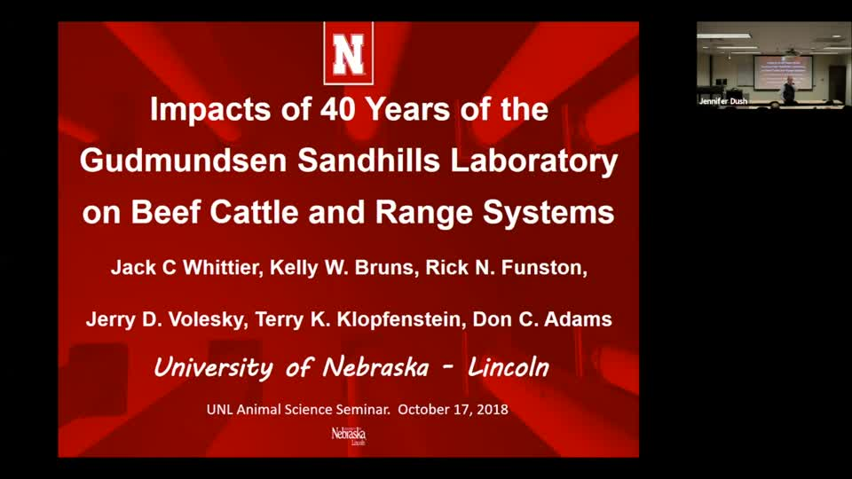 Impacts of 40 Years of the Gudmundsen Sandhills Laboratory on Beef Cattle and Range Systems