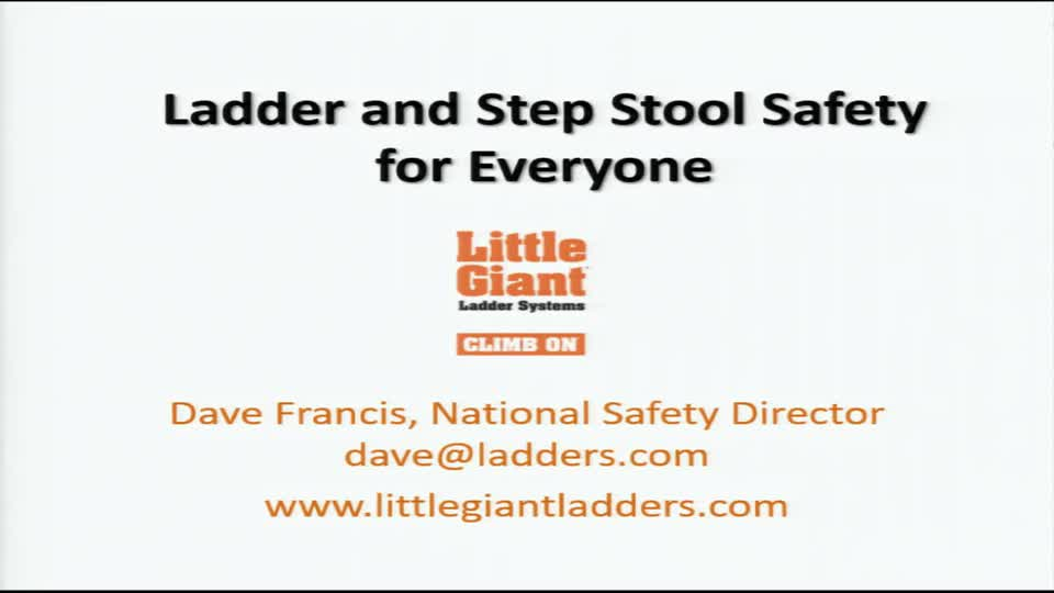 Ladder & Step Stool Safety for Everyone