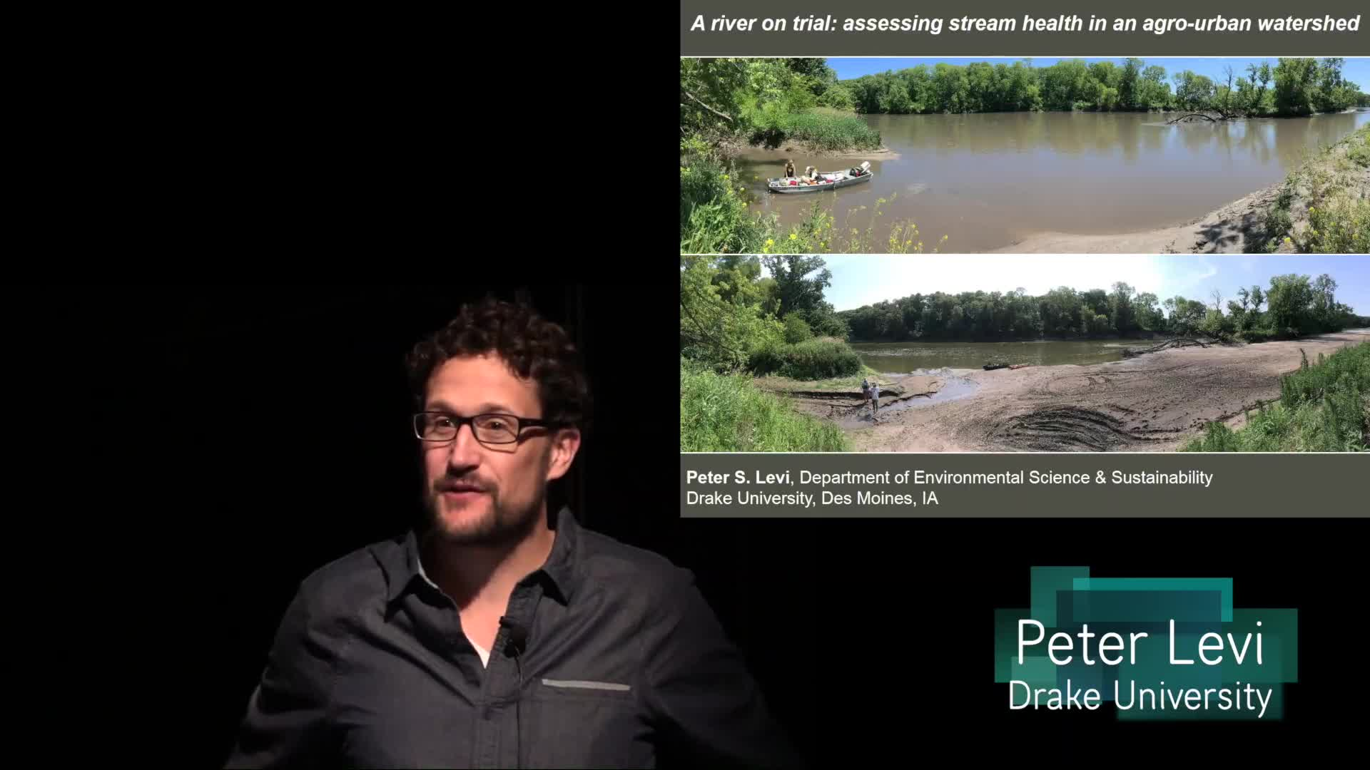 A river on trial: Assessing stream health in an agro-urban landscape