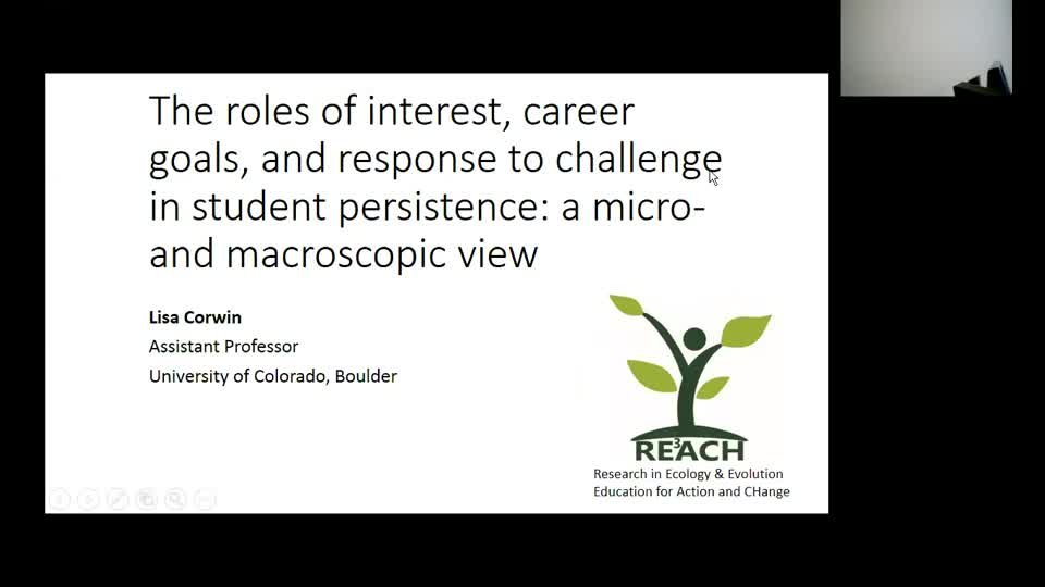 The roles of interest, career goals, and response to challenge in student persistence; a micro- and macroscopic view