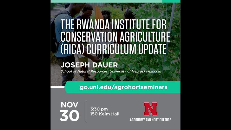 The Rwanda Institute for Conservation Agriculture (RICA) Curriculum Update