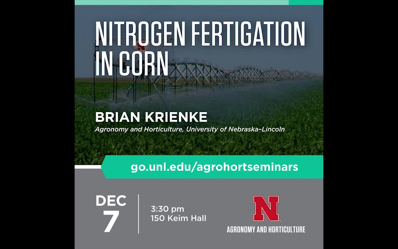Nitrogen Fertigation in Corn