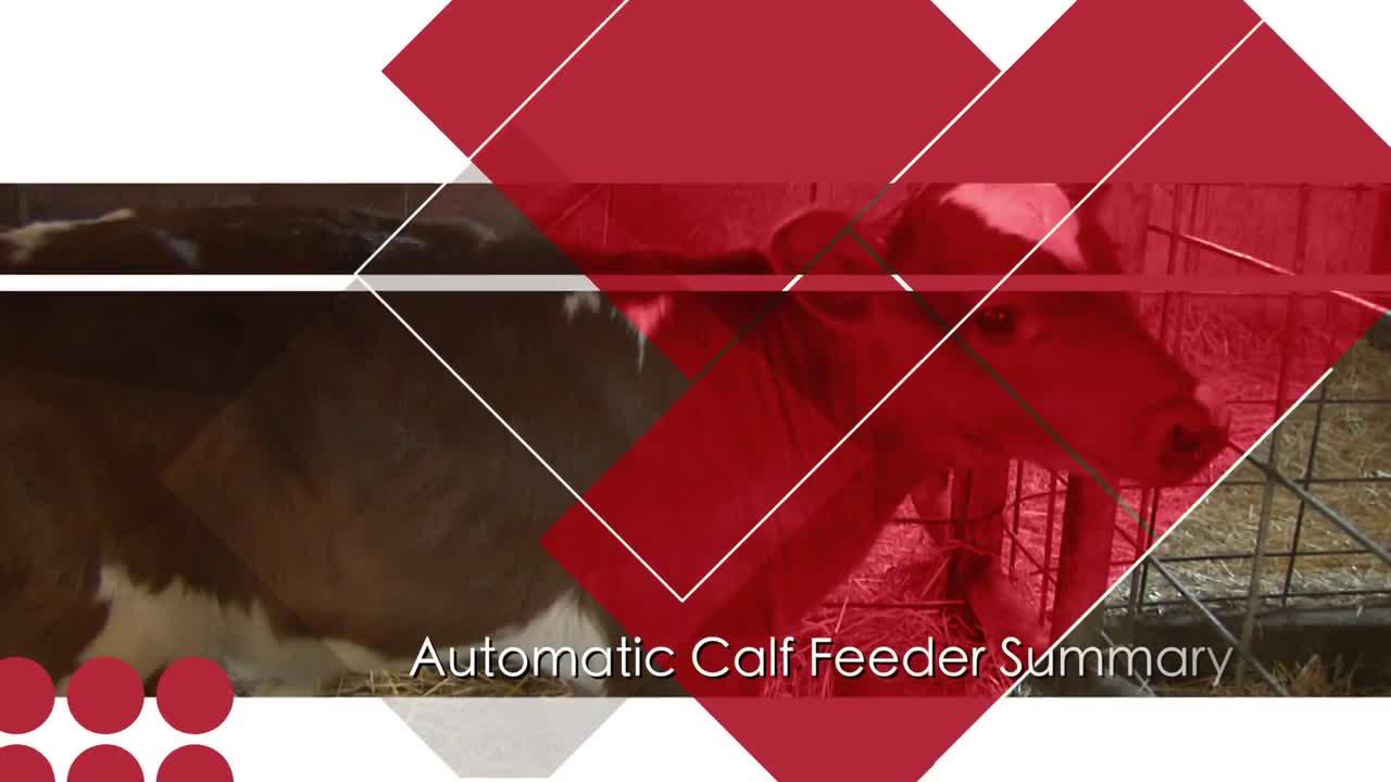 Automatic Calf Feeders: Summary