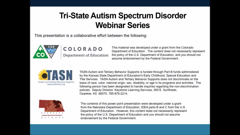 Toileting and ASD Tri State Webinar