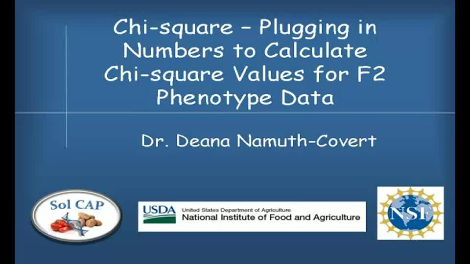 Chi-square - Plugging in Numbers to Calculate Chi-square Values for F2 Phenotype Data