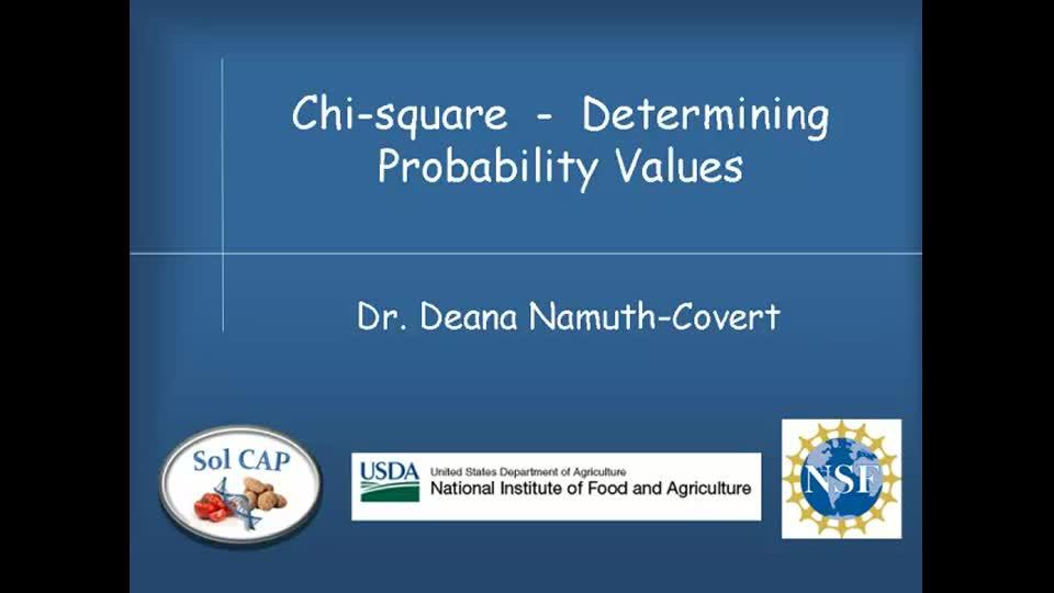 Chi-square - Determining Probability Values