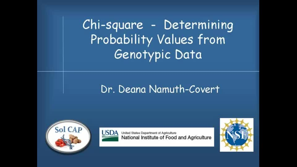Chi-square - Determining Probability Values from Genotypic Data
