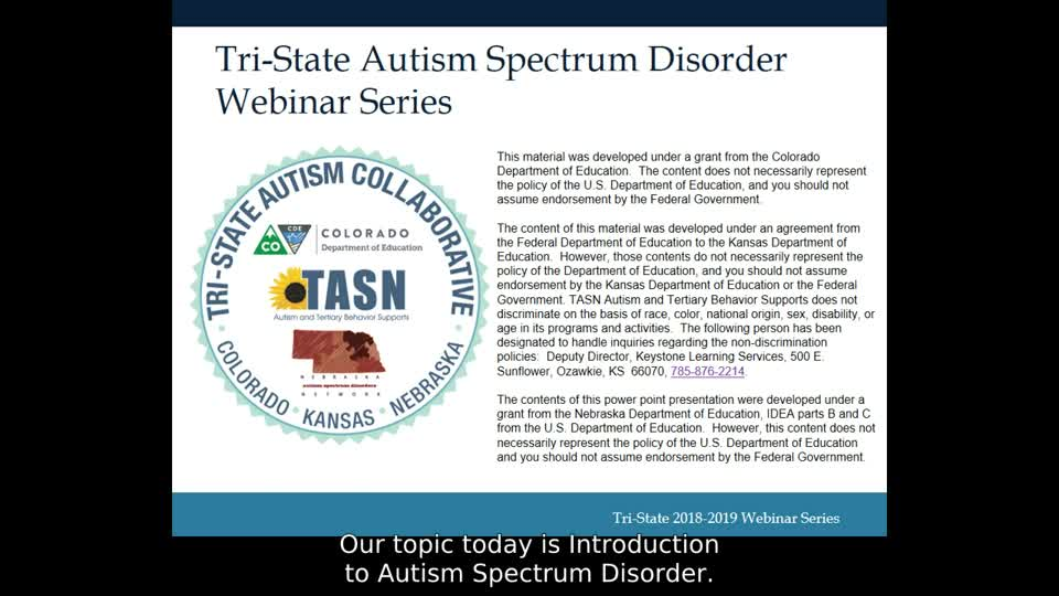 Introduction to Autism Spectrum Disorder
