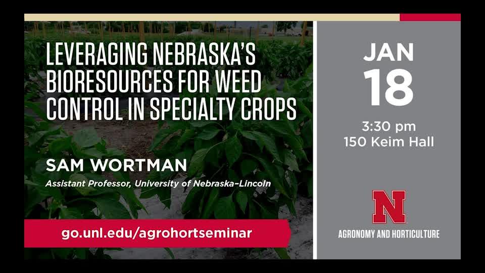 Leveraging Nebraska's Bioresources for Weed Control in Specialty Crops