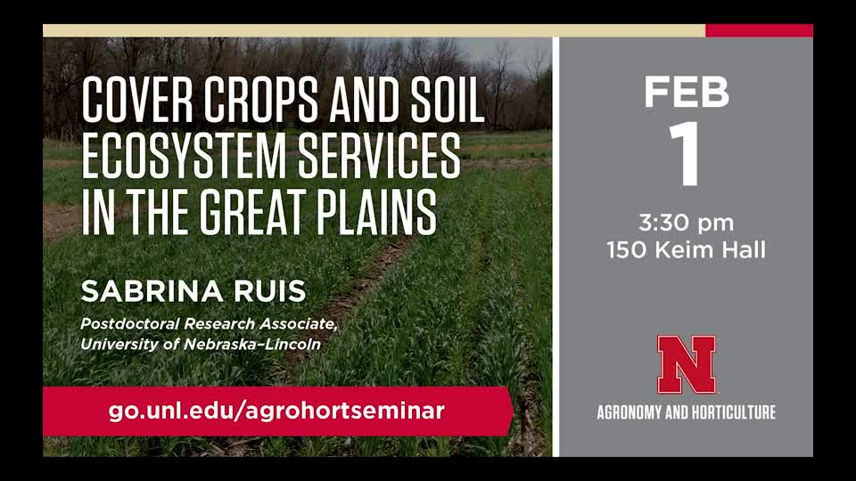 Cover Crops and Soil Ecosystem Services in the Great Plains