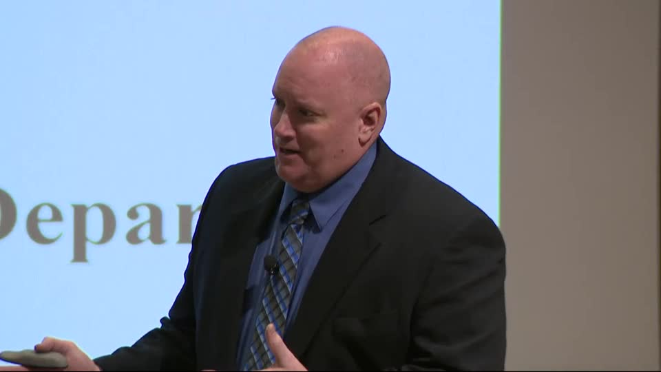 Criminal Justice Lecture--Chief Steve Rathman, Plattsmouth Police Department