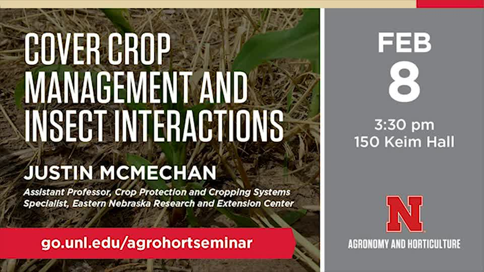Cover Crop Management and Insect Interactions