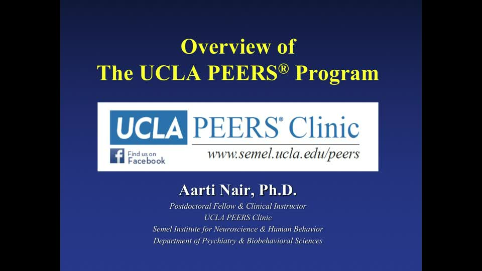 Overview of the UCLA Peers Program