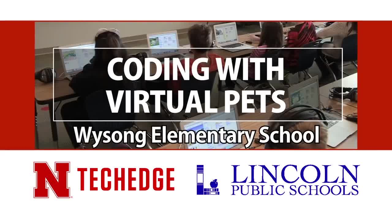 Wysong Elementary School Students Coding with Virtual Pets