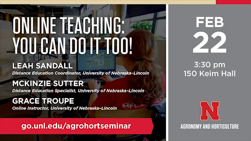 Online Teaching: You Can Do It Too!