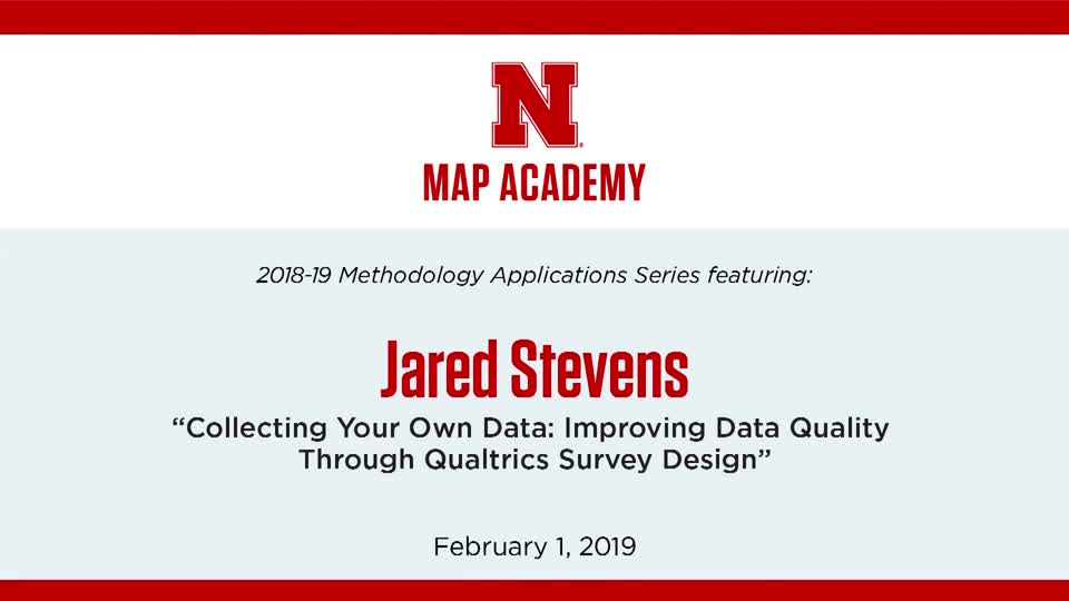 """Jared Stevens: """"Collecting Your Own Data"""""""