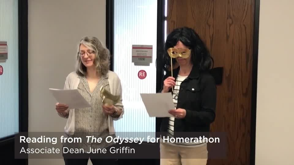 CAS deans read from The Odyssey for Homerathon 2019