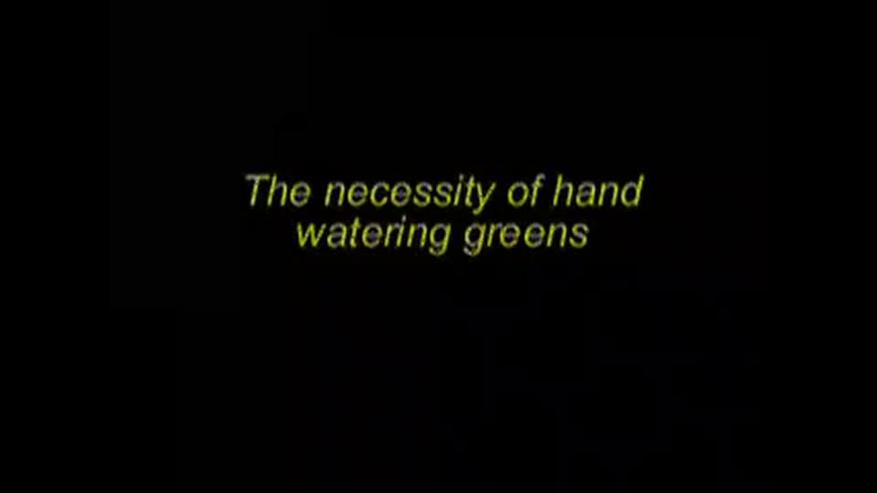 Watering golf courses