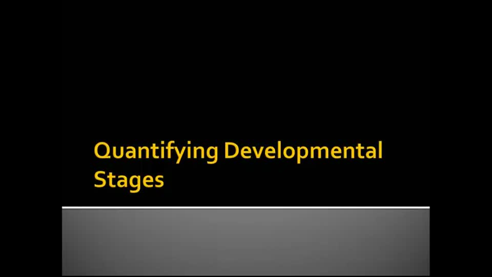 Quantifying Developmental Stages