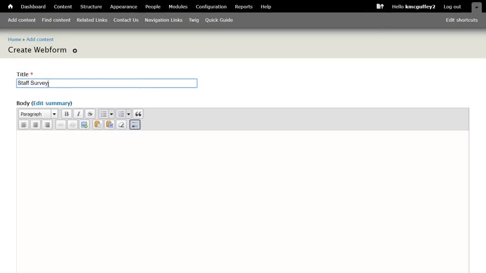 Creating a Form in UNLcms