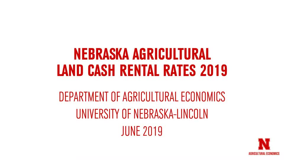 2019 Nebraska Cash Rents