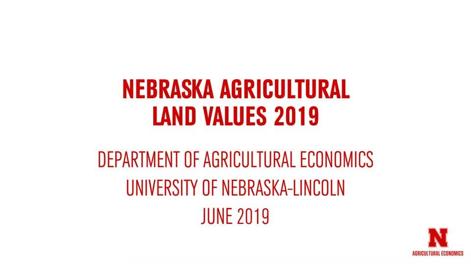 2019 Nebraska Ag Land Values