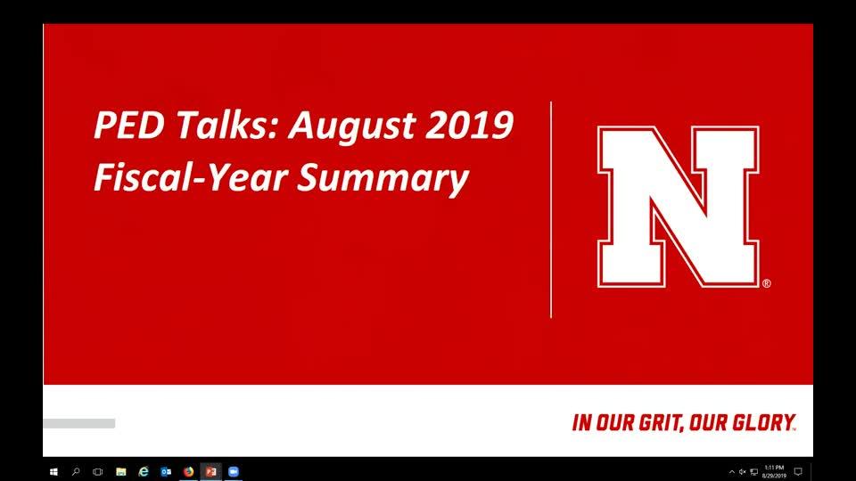 PED Talks: August 2019