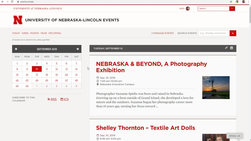 Extension Resource - UNL Events