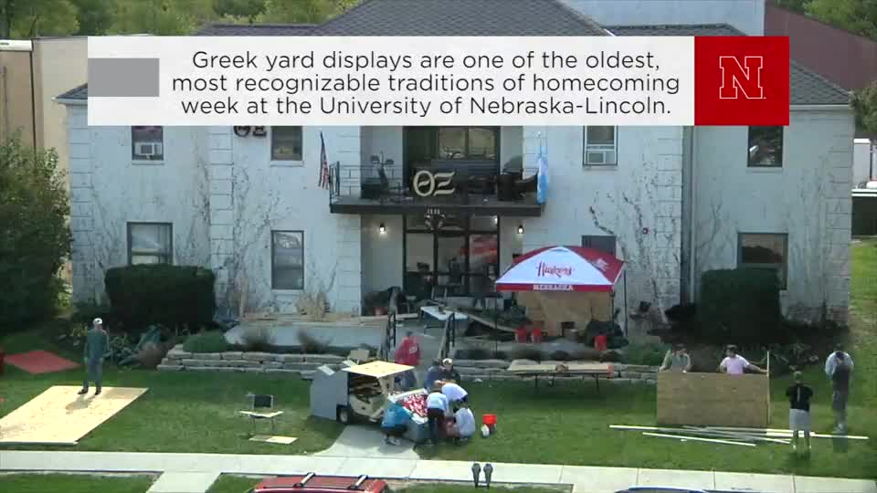 N|150 Homecoming Yard Display Timeplapse
