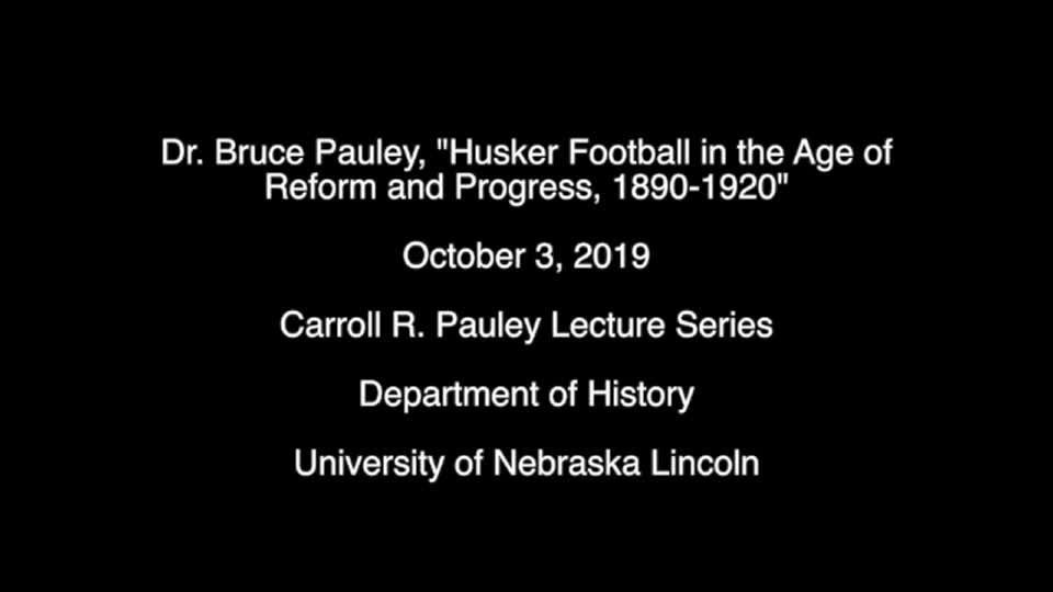 2019 Pauley Lecture