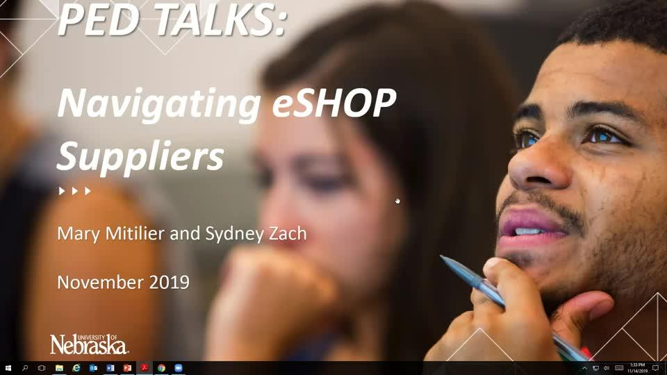 November 2019 PED Talks