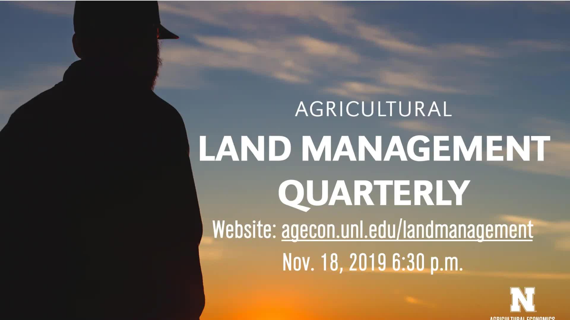 Ag Land Management Quarterly November 2019