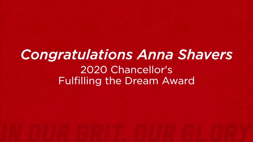 Fulfilling the Dream Award 2020: Anna Shavers
