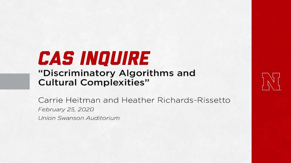 """Discriminatory Algorithms and Cultural Complexities"" | CAS Inquire"
