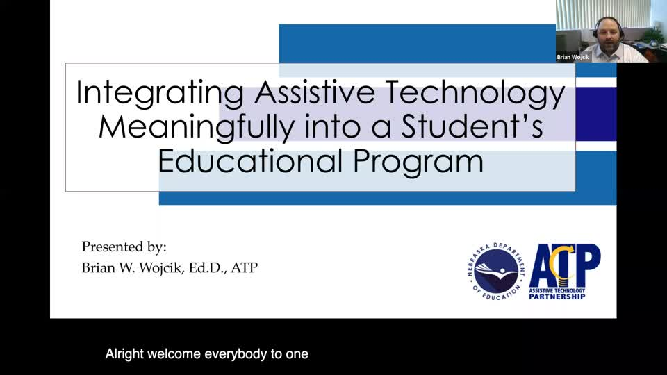 Integrating Assistive Technology into a Student's Educational Program