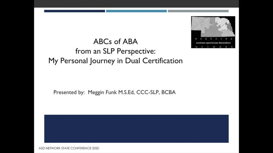 ABA from an SLP Perspective