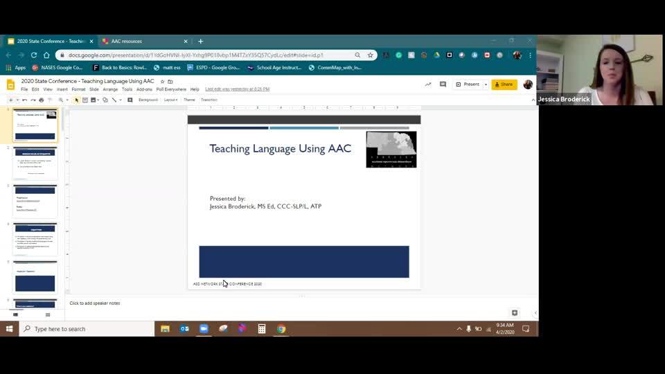 Teaching Language Using AAC