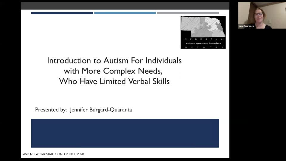 Intro to ASD for Individuals with More Complex Needs