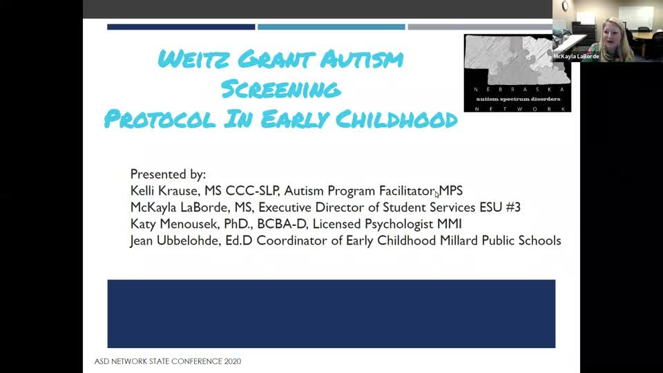 Weitz Grant Autism Screening Protocol In Early Childhood