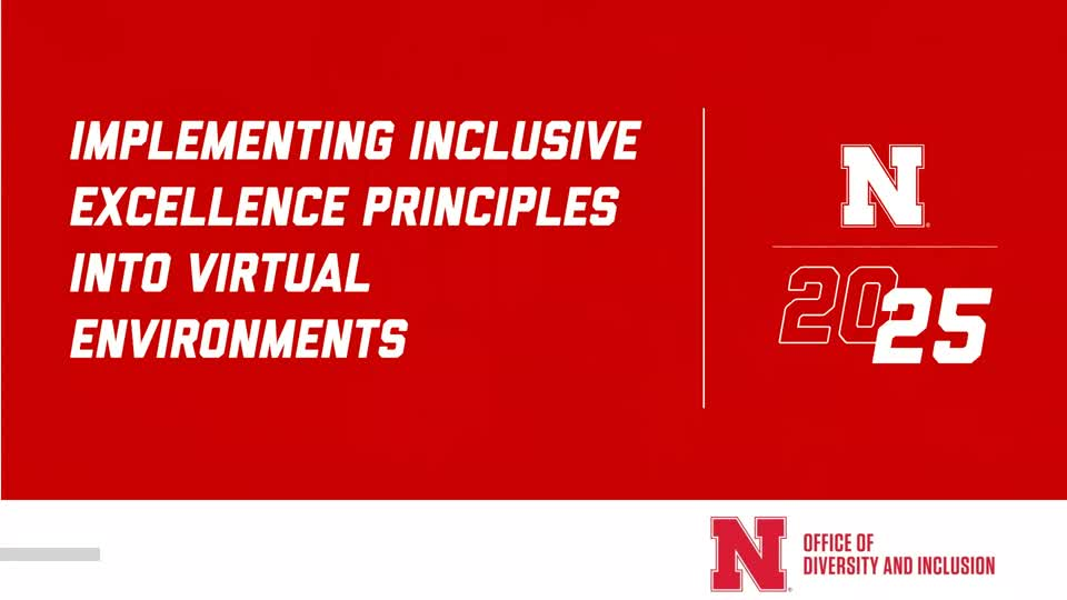 Webinar: Implementing Inclusive Excellence Principles into Virtual Learning Environments