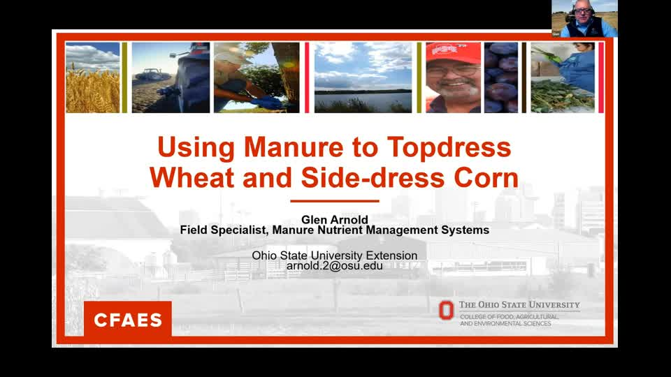 Glen Arnold - Side Dressing Crops with Manure
