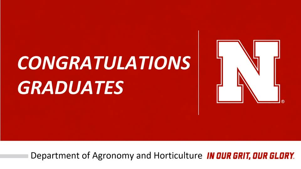 Agronomy and Horticulture Salute to Graduates