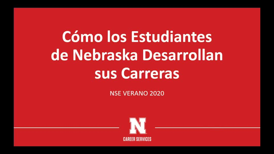 NSE 2020 Spanish-University Career Services