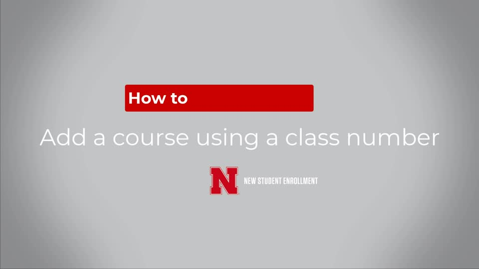 How to Add a Class Using a Class Number