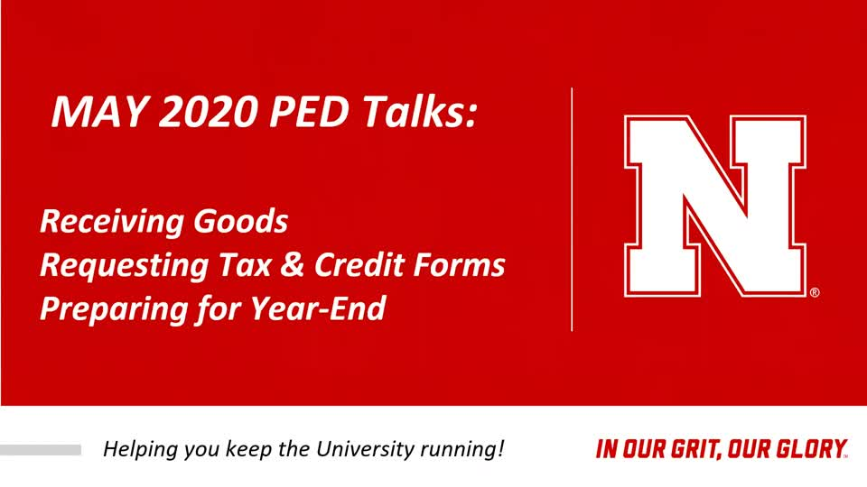 PED Talks May 2020