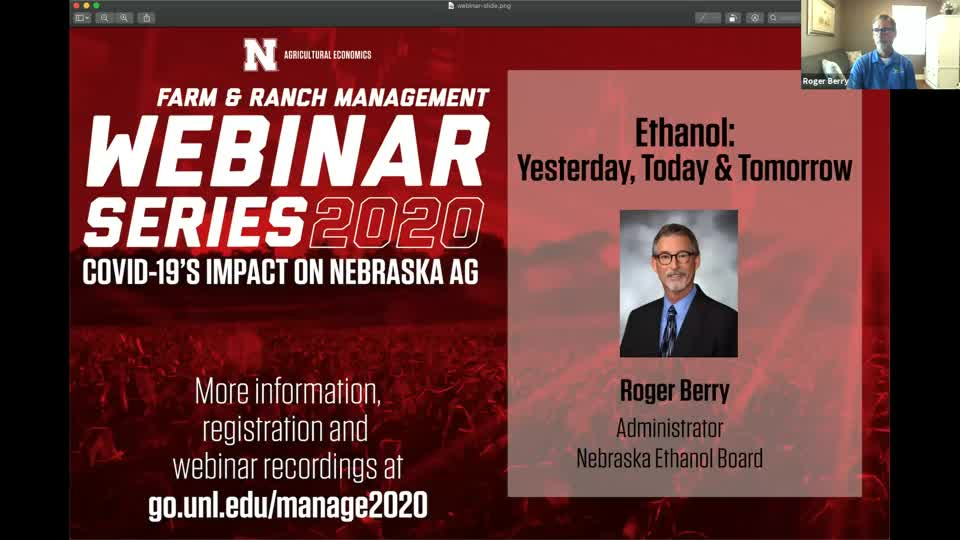 Ethanol: Yesterday, Today and Tomorrow (May 28, 2020)